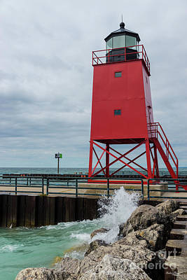 Photograph - Charlevoix South Pierhead Lighthouse by Jennifer White