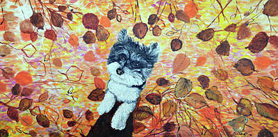 Painting - Charley Pet Portrait by Ashleigh Dyan Bayer
