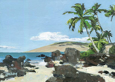 Haleiwa Painting - Charley Young Beach Morning by Stacy Vosberg