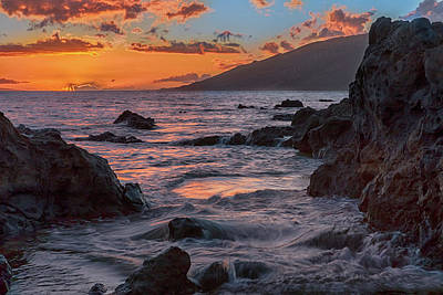 Photograph - Charley Young Beach Sunset by Susan Rissi Tregoning