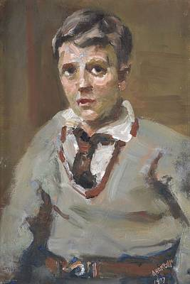 Ceramics Painting - Charlie, 1937, Dunedin, By Alfred O'keeffe. by Celestial Images