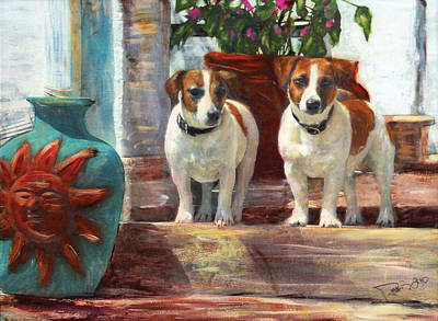 Painting - Charlie And Ned by Banning Lary