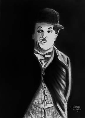 Chaplin Digital Art - Charlie by Arline Wagner