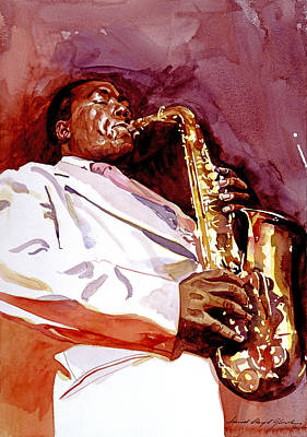 Painting - Charlie Bird Parker by David Lloyd Glover