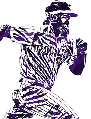 Charlie Blackmon Colorado Rockies Pixel Art 4 Art Print
