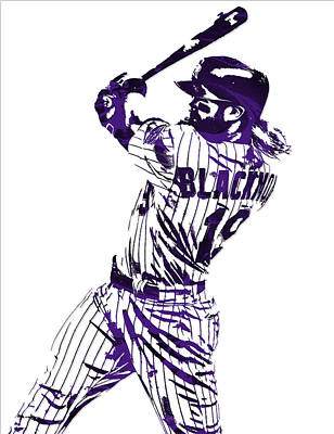 Charlie Blackmon Colorado Rockies Pixel Art 5 Art Print