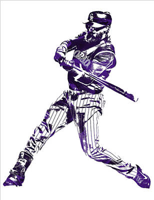 Charlie Blackmon Colorado Rockies Pixel Art 6 Art Print