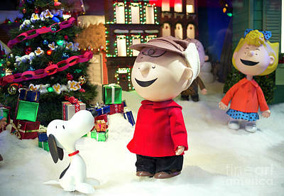 Photograph - Charlie Brown Christmas At Macy's New York City by John Rizzuto