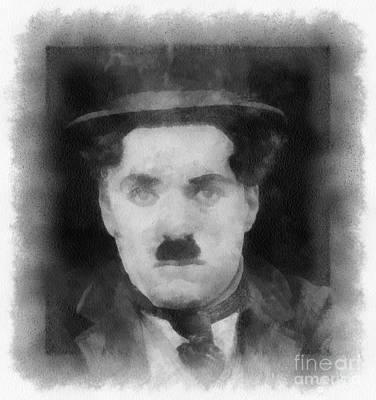 Charlie Chaplin Painting - Charlie Chaplin By John Springfield by John Springfield