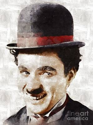 Charlie Chaplin Painting - Charlie Chaplin By Mary Bassett by Mary Bassett