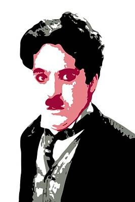 Silent Digital Art - Charlie Chaplin by DB Artist