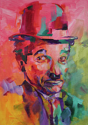 Painting - Charlie Chaplin by Dima Mogilevsky