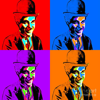 Cheer Digital Art - Charlie Chaplin Four 20130212 by Wingsdomain Art and Photography