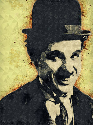 Mixed Media - Charlie Chaplin Illustration by Studio Grafiikka