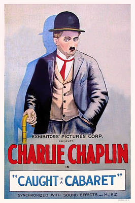 1910s Mixed Media - Charlie Chaplin In Caught In A Cabaret by Mountain Dreams