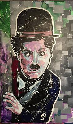 Painting - Charlie Chaplin by Jay V Art