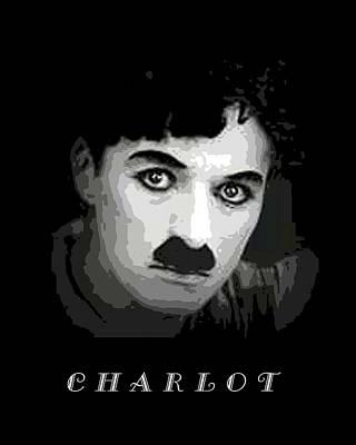 Digital Art - Charlie Chaplin by John Keaton