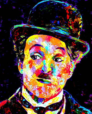 Obriens Painting - Charlie Chaplin  by Mike OBrien