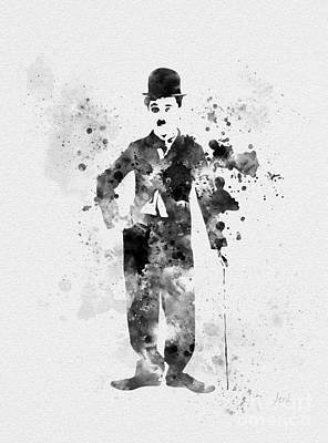 Charlie Chaplin Print by Rebecca Jenkins