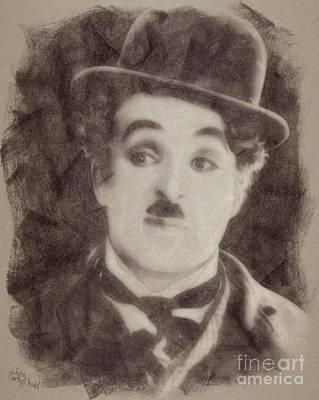 Charlie Chaplin, Vintage Hollywood Legend Art Print