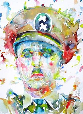 Painting - Charlie Chaplin - Watercolor Portrait.6 by Fabrizio Cassetta