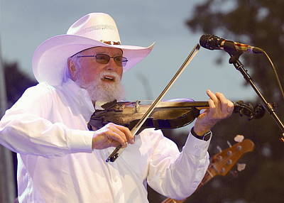 Charlie Daniels Photograph - Charlie Daniels On Fiddle  by Michael Ray