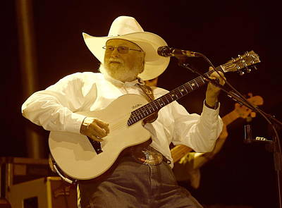 Charlie Daniels Photograph - Charlie Daniels On Stage by Michael Ray
