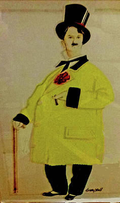 Photograph - Charlie In A Fancy Yellow Coat And Top Hat by Jay Milo