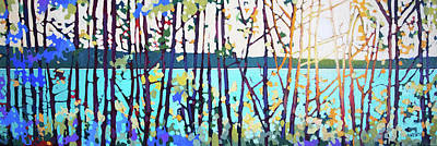 Wall Art - Painting - Charlie Lake Glow  by Alison Newth