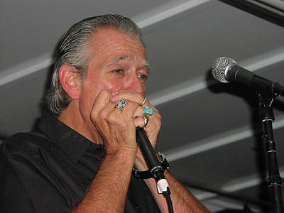 Photograph - Charlie On Blues Harp by Mike Martin
