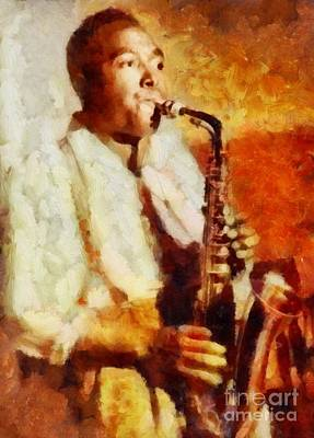 Music Paintings - Charlie Parker, Jazz Legend by Esoterica Art Agency