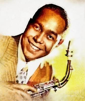 Music Paintings - Charlie Parker, Music Legend by Esoterica Art Agency