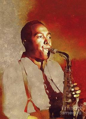 Rock And Roll Royalty-Free and Rights-Managed Images - Charlie Parker, Music Legend by Mary Bassett