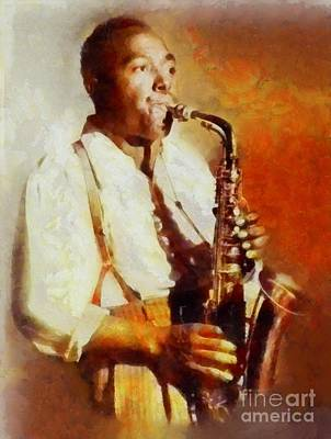 Rock And Roll Royalty-Free and Rights-Managed Images - Charlie Parker, Music Legend by Sarah Kirk