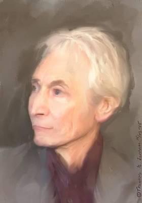 Painting - Charlie Watts by ThomasE Jensen