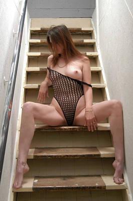 Charliegirl On The Stairs 2 Art Print