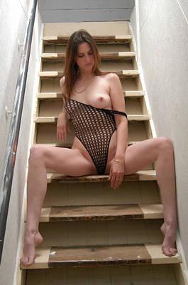 Charliegirl Photograph - Charliegirl On The Stairs 4 by Attic Studios
