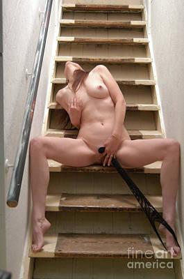 Charliegirl Photograph - Charliegirl On The Stairs 7 by Attic Studios