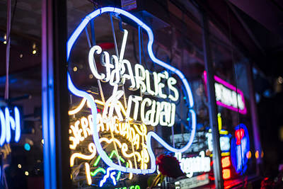 Photograph - Charlie's Kitchen Neon Signs Harvard Square Cambridge by Toby McGuire