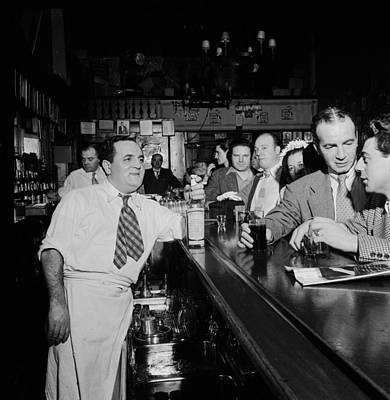 Black Commerce Photograph - Charlie's Tavern N Y C 1947 by Mountain Dreams