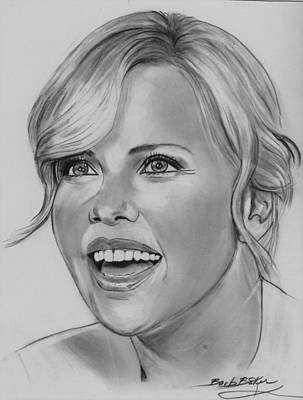 Drawing - Charlize by Barb Baker