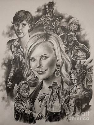 Charlize Wall Art - Drawing - Charlize Theron  by James Rodgers
