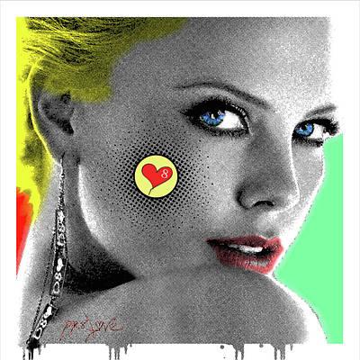 Charlize Theron, Pop Art, Portrait, Contemporary Art On Canvas, Famous Celebrities Original