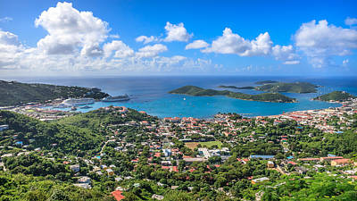 Charlotte Amalie St. Thomas In The Caribbean Print by Keith Allen