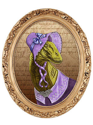 Drawing - Charlotte Brontesaurus by Deirdre DeLay