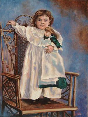 Painting - Charlotte Circa 1898 by David Bader