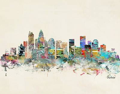 Painting - Charlotte City by Bleu Bri