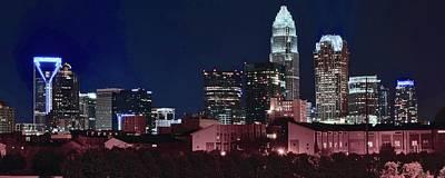 Bobcats Photograph - Charlotte City Skyline by Frozen in Time Fine Art Photography