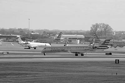 Photograph - Charlotte Douglas International Airport 11 Bw by Joseph C Hinson Photography