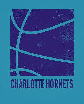 Mixed Media - Charlotte Hornets City Poster Art 2 by Joe Hamilton